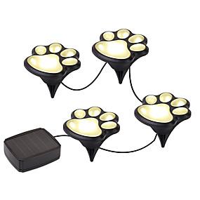 billige Pathway Lights-YWXLIGHT® 1pc Varm hvid Kold hvid Soldrevet Høj kvalitet Jævnstrøm5 Dekorativ