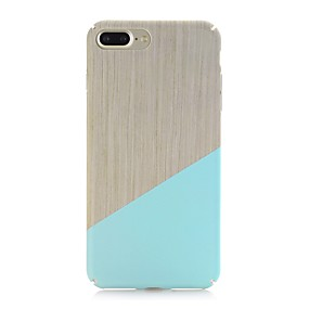 levne iPhone pouzdra-Carcasă Pro Apple iPhone X / iPhone 8 Matné / Vzor Zadní kryt Textura dřeva Pevné PC pro iPhone X / iPhone 8 Plus / iPhone 8