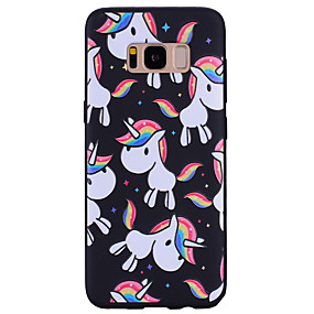 halpa Galaxy S -sarjan kotelot / kuoret-Etui Käyttötarkoitus Samsung Galaxy Kuvio Takakuori Yksisarvinen Pehmeä Silikoni varten S8 Plus / S8 / S7 edge