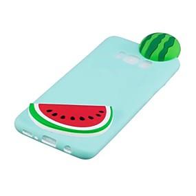 voordelige Galaxy S7 Hoesjes / covers-hoesje Voor Samsung Galaxy S8 Plus / S8 / S7 edge Patroon / DHZ Achterkant 3D Cartoon / Fruit Zacht TPU