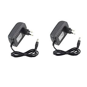 Недорогие Адаптеры-2pcs 12 V US / EU ABS + PC Адаптер питания для светодиодной полосы света