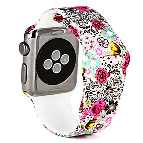 Недорогие Рекомендуемые-Ремешок для часов для Apple Watch Series 4/3/2/1 Apple Спортивный ремешок силиконовый Повязка на запястье