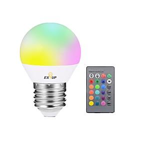 levne LED Smart žárovky-EXUP® 1ks 5W 400lm E27 LED chytré žárovky G45 1 LED korálky Integrovaná LED Stmívatelné Ozdobné Dálkové ovládání LED světlo R GB 85-265V