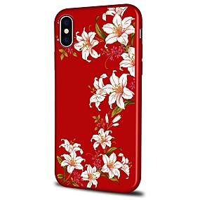Недорогие Кейсы для iPhone 5S/SE-Кейс для Назначение Apple iPhone X / iPhone 8 Plus С узором Кейс на заднюю панель Цветы Мягкий ТПУ для iPhone X / iPhone 8 Pluss / iPhone 8
