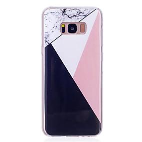 halpa Galaxy S -sarjan kotelot / kuoret-Etui Käyttötarkoitus Samsung Galaxy S8 Plus / S8 IMD Takakuori Marble Pehmeä TPU varten S8 Plus / S8 / S7 edge