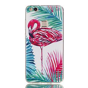 voordelige Huawei Honor hoesjes / covers-hoesje Voor Huawei Honor 7 / Huawei P9 Lite / Huawei Honor 5C P10 Lite / P10 / Huawei P9 Lite Ultradun / Patroon Achterkant Flamingo Zacht TPU
