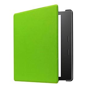 Недорогие Аксессуары для планшетов-Кейс для Назначение Amazon Kindle Oasis 2 (2-е поколение, выпуск 2017 года) Чехол Однотонный Твердый Кожа PU для Kindle Oasis 2(2nd Generation, 2017 Release)