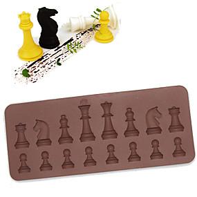 ieftine Bucătărie & Masă-16 cavitate șah ciocolată silicon tort mucegai crema de coacere se coace