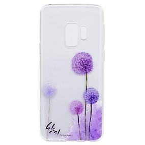 Недорогие Чехлы и кейсы для Galaxy S5 Mini-Кейс для Назначение SSamsung Galaxy S9 / S9 Plus / S8 Plus С узором Кейс на заднюю панель одуванчик Мягкий ТПУ