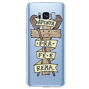 voordelige Galaxy S6 Edge Plus Hoesjes / covers-hoesje Voor Samsung Galaxy Patroon Houtnerf / Cartoon Zacht