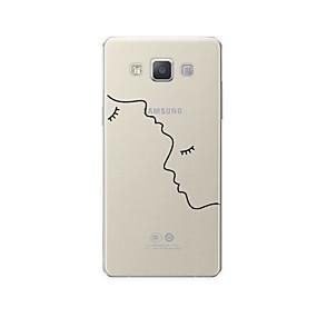 voordelige Galaxy A8 Hoesjes / covers-hoesje Voor Samsung Galaxy A3 (2017) / A5 (2017) / A7 (2017) Patroon Achterkant Lijnen / golven / Hart / Sexy dame Zacht TPU