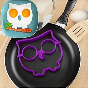 ieftine Ustensile de Gătit-silicon bufniță ouă prajite mucegai diy dispozitiv de gătit omeletă