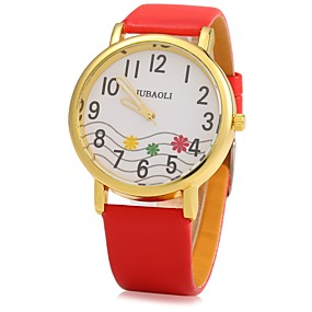 Недорогие Фирменные часы-JUBAOLI Муж. Жен. Наручные часы Кварцевый Черный / Белый / Красный Повседневные часы Cool Аналоговый Дамы Блестящие - Черный Коричневый Красный