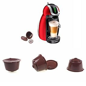 رخيصةأون المنزل والمطبخ-كبسولة قابلة لإعادة الاستخدام لدولتشي غوستو قهوة نسكافيه إعادة الملء استخدام 150 مرة