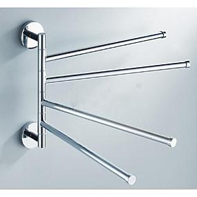 economico Accessori per il bagno-Portasciugamani a muro Universale Acciaio inossidabile 1 pezzo - Bagno dell'hotel 4 portasciugamani