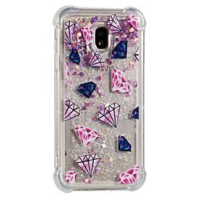 voordelige Galaxy J7 Hoesjes / covers-hoesje Voor Samsung Galaxy J7 (2017) / J7 (2016) / J7 Schokbestendig / Stromende vloeistof / Patroon Achterkant Geometrisch patroon Zacht TPU