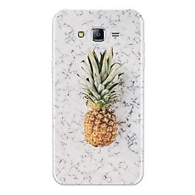 voordelige Galaxy J5 Hoesjes / covers-hoesje Voor Samsung Galaxy J7 (2017) / J7 (2016) / J7 Patroon Achterkant Fruit / Marmer Zacht TPU