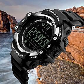 voordelige Merk Horloge-SKMEI Heren Sporthorloge Digitaal horloge Kwarts Zwart 50 m Waterbestendig Bluetooth Kalender Digitaal Luxe Informeel Modieus - Zwart Zilver Blauw / Stappentellers / Stopwatch