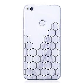 voordelige Huawei Honor hoesjes / covers-hoesje Voor Huawei P9 Lite / Huawei / Huawei P8 Lite P10 / Huawei P9 Lite / P8 Lite (2017) IMD / Patroon Achterkant Geometrisch patroon / Marmer Zacht TPU
