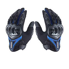 billige Motorcykel Handsker-mænds handsker med mikrofiber hård knæk vandtæt åndbar powersports motorcykel al-finger handske berøringsskærm
