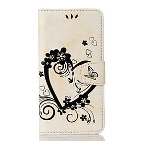 voordelige Galaxy S7 Hoesjes / covers-hoesje Voor Samsung S7 edge / S7 / S6 edge Portemonnee / Kaarthouder / met standaard Volledig hoesje Hart Hard PU-nahka