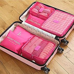 ieftine Accesorii de Călătorie-6 seturi Geantă Călătorie / Organizator de călătorii / Organizator Bagaj de Călătorie Capacitate Înaltă / Impermeabil / Portabil Sutiene / Haine Îmbrăcăminte Oxford Călătorie / Durabil