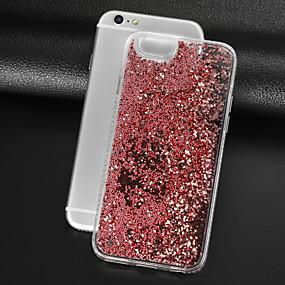 abordables Coques d'iPhone-cas pour apple iphone xr xs xs max liquide coulant couverture arrière transparente paillettes brillent pc dur pour iphone x 8 8 plus 7 7plus 6s 6s plus se 5 5s