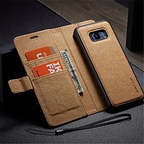 voordelige Galaxy S7 Edge Hoesjes / covers-hoesje Voor Samsung Galaxy S8 Plus / S8 / S7 edge Portemonnee / Kaarthouder / met standaard Volledig hoesje Effen Hard PU-nahka