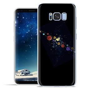 olcso Galaxy S tokok-Case Kompatibilitás Samsung Galaxy S8 Plus / S8 Minta Fekete tok Rajzfilm Puha TPU mert S8 Plus / S8 / S7 Active