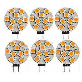 abordables Luces LED de Doble Pin-SENCART 6pcs 1.5 W Luces LED de Doble Pin 270 lm G4 T 9 Cuentas LED SMD 5050 Decorativa Blanco Cálido 12 V / CE