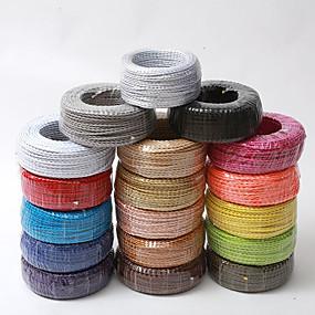 ieftine Întrerupătoare & Prize-ecolight® 5m / lot de țesătură din fibră de sârmă de tip conductor din cupru electric 2 sârmă de 0.75 mm, adecvat pentru iluminat în pivniță