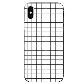 abordables Coques d'iPhone-Coque Pour Apple iPhone X / iPhone 8 Motif Coque Formes Géométriques Flexible TPU pour iPhone X / iPhone 8 Plus / iPhone 8
