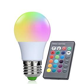 billige LED-smartpærer-1pc 3 W Smart LED-lampe 250 lm E26 / E27 10 LED Perler SMD 5050 Infrarød sensor Dæmpbar Fjernstyret RGBW 85-265 V / RoHs / FCC