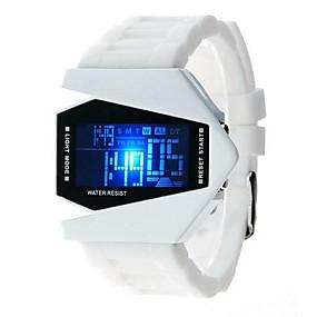 billige kvinners digitale klokker-Herre Dame Moteklokke Digital Watch Japansk Quartz Silikon Svart / Hvit / Blå 30 m Hverdagsklokke Digital Glitrende - Svart Rød Blå Ett år Batteri Levetid