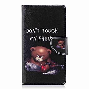 baratos Sony-Capinha Para Sony Xperia XA2 Ultra / Xperia L2 Carteira / Porta-Cartão / Com Suporte Capa Proteção Completa Palavra / Frase Rígida PU Leather para Xperia XA2 Ultra / Xperia XA2 / Xperia XZ1 Compact