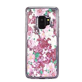 voordelige Galaxy S7 Edge Hoesjes / covers-hoesje Voor Samsung Galaxy S9 / S9 Plus / S8 Plus Stromende vloeistof Achterkant Bloem Zacht TPU