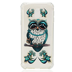 voordelige Galaxy J7 Hoesjes / covers-hoesje Voor Samsung Galaxy J7 (2017) / J7 (2016) / J7 Schokbestendig / Transparant / Patroon Achterkant Uil Zacht TPU