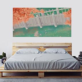 Недорогие Декоративные стикеры-Декоративные наклейки на стены - Простые наклейки 3D Цветочные мотивы / ботанический Гостиная Спальня Ванная комната Кухня Столовая