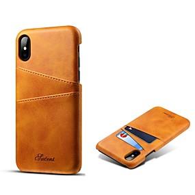 halpa iPhone 8 kotelot-kotelo omena iphone xr xs xs max kortinpidike takakansi kiinteä värillinen kova aito nahka iphone x 8 8 plus 7 7plus 6s 6s plus se 5 5s