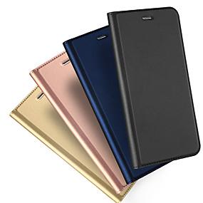 abordables Coques d'iPhone-étui pour applev iphone xr xs xs max titulaire / flip cas magnétiques couleur solide cuir pu dur pour iphone x 8 8 plus 7 7plus 6s 6s plus se 5 5s