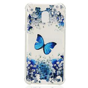 voordelige Galaxy J5 Hoesjes / covers-hoesje Voor Samsung Galaxy J7 (2017) / J7 (2016) / J7 Schokbestendig / Transparant / Patroon Achterkant Vlinder Zacht TPU