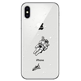 halpa iPhone 8 kotelot-Etui Käyttötarkoitus Apple iPhone X / iPhone 8 Läpinäkyvä / Kuvio Takakuori 3D sarjakuva Pehmeä TPU varten iPhone X / iPhone 8 Plus / iPhone 8