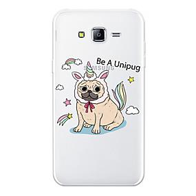 voordelige Galaxy J5 Hoesjes / covers-hoesje Voor Samsung Galaxy J7 (2017) / J7 (2016) / J7 Patroon Achterkant Hond / dier / Cartoon Zacht TPU