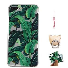 levne iPhone pouzdra-Carcasă Pro Apple iPhone X / iPhone 8 Plus Vzor Zadní kryt Rostliny Měkké TPU pro iPhone X / iPhone 8 Plus / iPhone 8