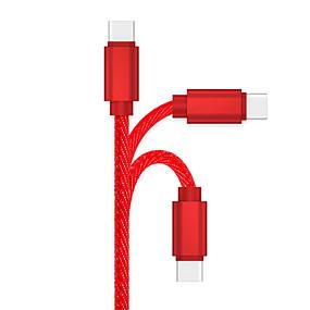 halpa Google-C-tyypin Kaapeli 1m-1.99m / 3ft-6ft pikalataus sinkkiseos USB-kaapelisovitin Käyttötarkoitus Samsung / Huawei / LG