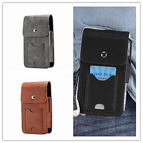Недорогие Чехлы и кейсы для Galaxy S5 Mini-Кейс для Назначение SSamsung Galaxy S9 / S9 Plus / S8 Plus Бумажник для карт Мешочек Однотонный Твердый Настоящая кожа