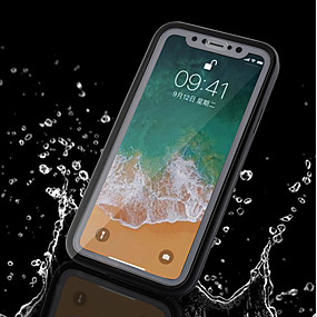 olcso iPhone tokok-Case Kompatibilitás Apple iPhone X / iPhone 8 Plus Vízálló Héjtok Egyszínű Puha TPU mert iPhone X / iPhone 8 Plus / iPhone 8