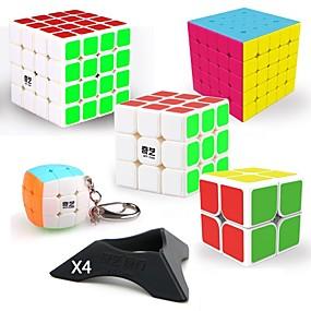 Χαμηλού Κόστους Εκπαιδευτικά παιχνίδια-9 τμχ Magic Cube IQ Cube QIYI QIYI-A Pyramorphix Alien Mini 2*2*2 3*3*3 4*4*4 Ομαλή Cube Ταχύτητα Μαγικοί κύβοι παζλ κύβος Αυτοκόλλητο με ομαλή επιφάνεια επαγγελματικό Επίπεδο Για Παιχνίδια