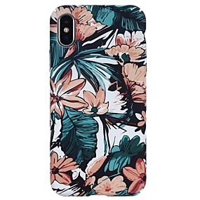 olcso iPhone tokok-Case Kompatibilitás Apple iPhone X / iPhone 8 Foszforeszkáló / Dombornyomott / Minta Fekete tok Virág Kemény PC mert iPhone X / iPhone 8 Plus / iPhone 8