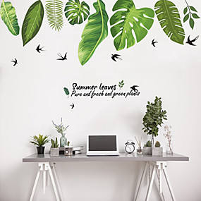 cheap Decoration Stickers-Decorative Wall Stickers - Plane Wall Stickers Animals / Floral / Botanical Living Room / Bedroom / Bathroom
